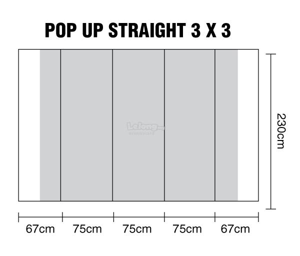 Pop Up Straight Display