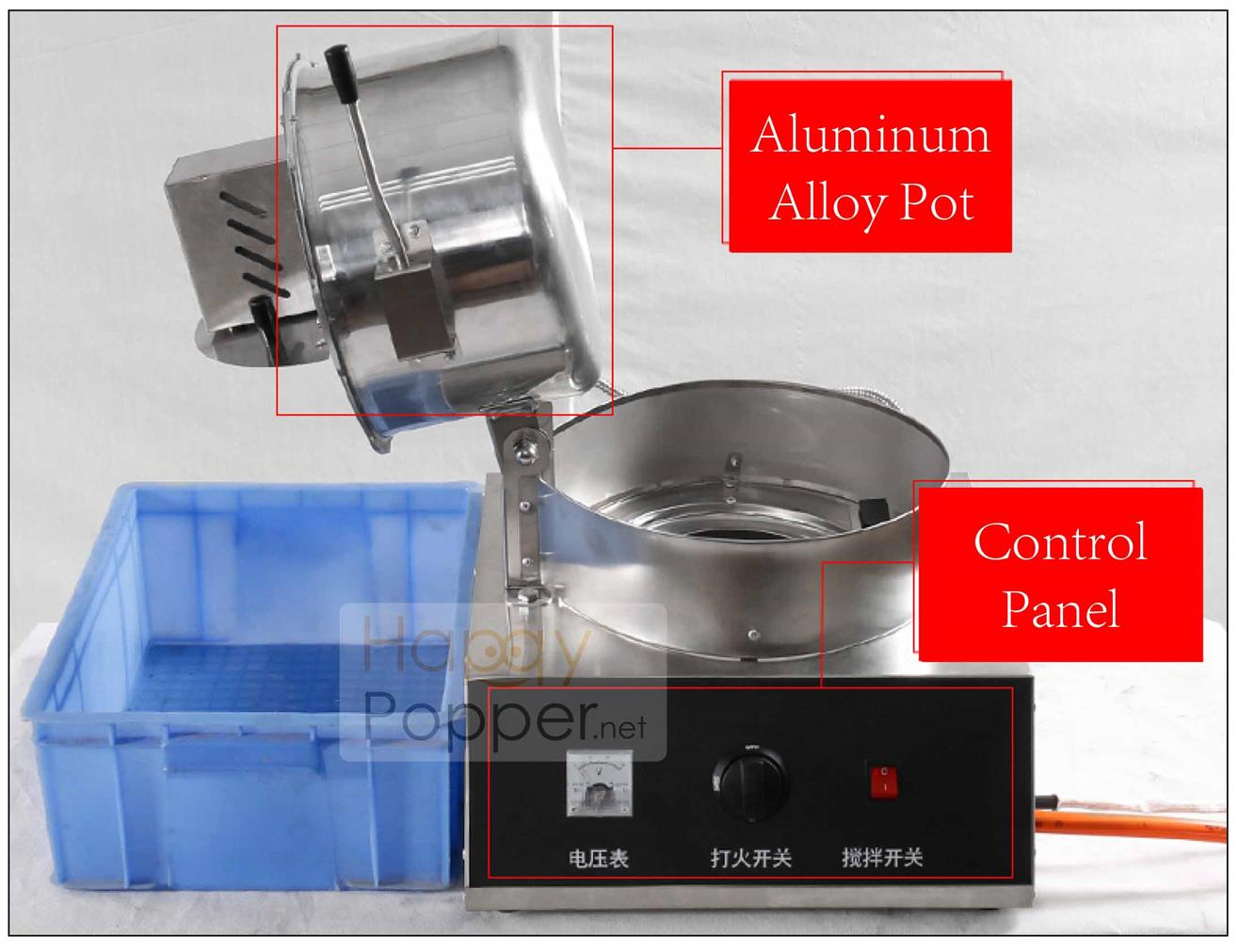 Popcorn machine gas maker electric popcorn seed butterfly mushroom us