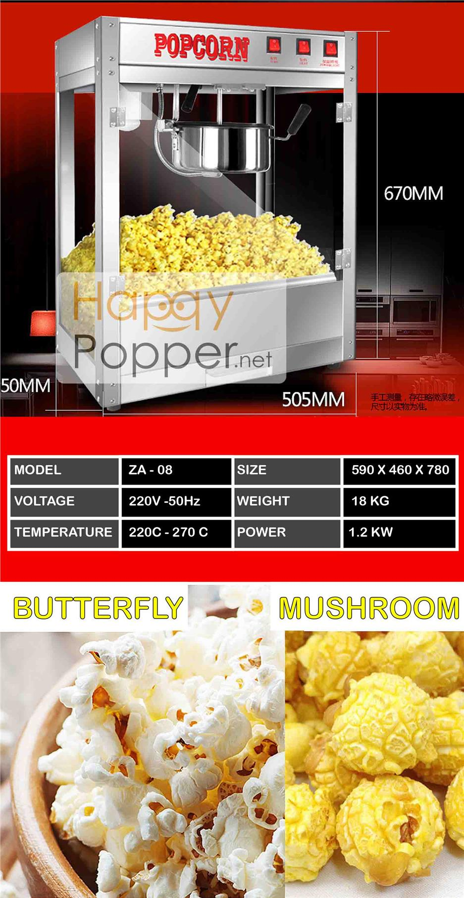 popcorn machine seed popping oil caramel stainless steel maker event m