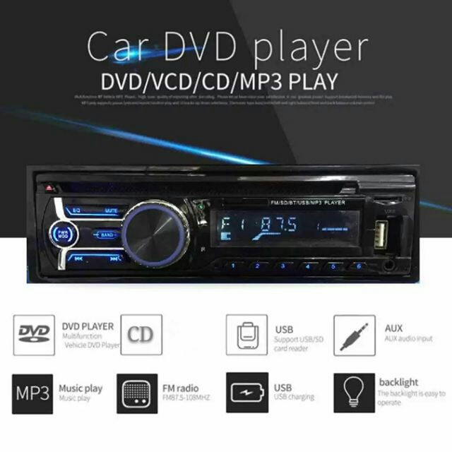 Popular Car 250W X 4 DVD/CD/MP3/USB/FM/SD/WMA/MPEG Single Din Player