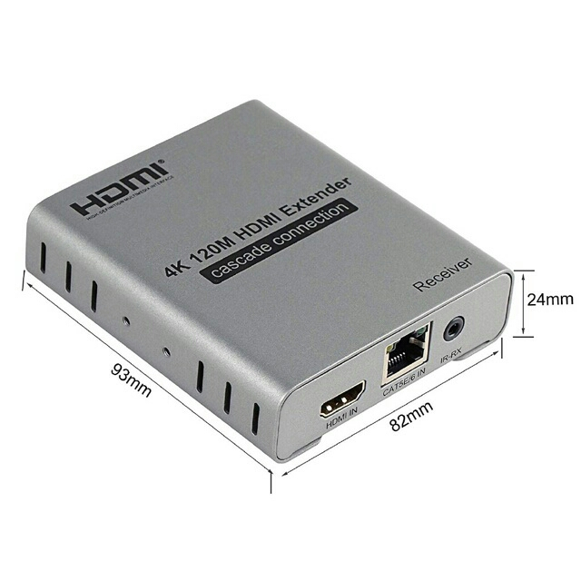 POPULAR HDMI 4K extender Max 120M by CAT6 CAT7 cable with IR amplifier