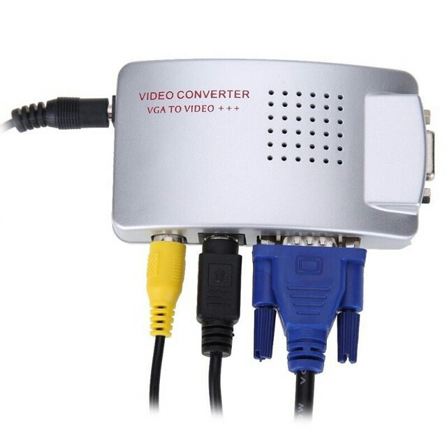POPULAR PC TO TV VGA To AV /TV /RCA /AV Adapter S-Video Converter