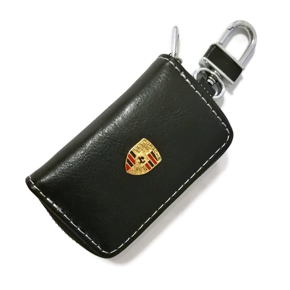 Porsche Car Key Pouch / Key Chain / Key Holder Genuine Leather(Type A)