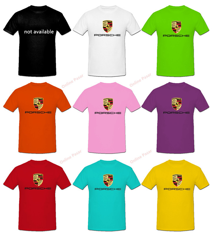 Porsche T-Shirt with 8 Colour Choices