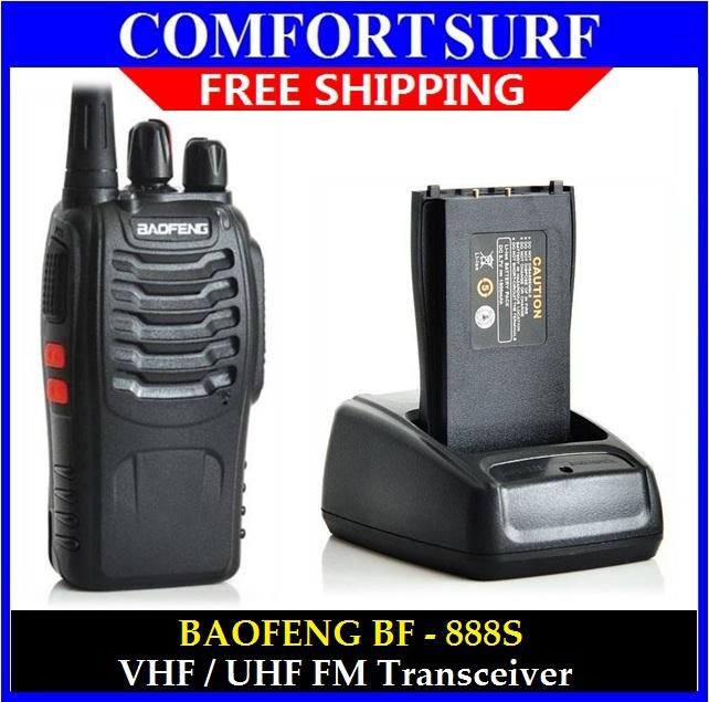 Portable 2 Way Radio 16 Channel Walkie Talkie Baofeng BF-888S VHF/UHF
