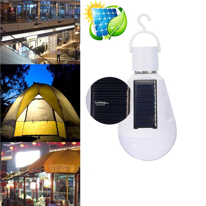 Portable 7W Solar LED Light Bulb Home Emergency Lantern Outdoor Campin