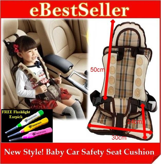 Portable & Adjustable NEW Style Baby Child Car Safety Seat Cushion