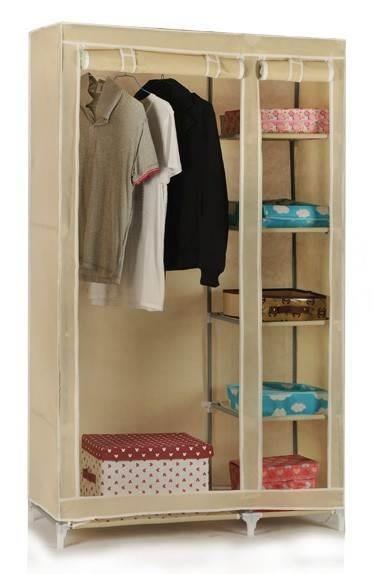 Delightful Portable Assemble Waterproof Fabric Folding Closet Bag Wardrobe