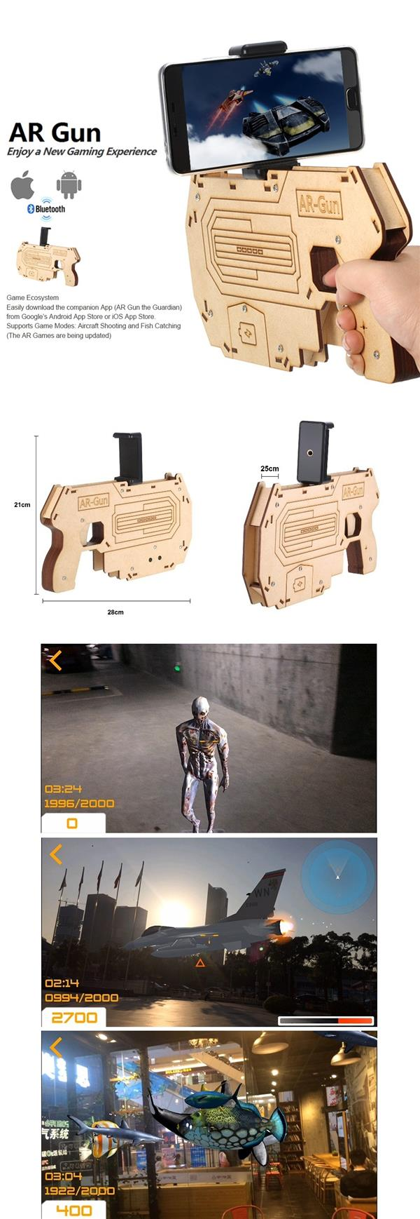 Portable Augmented Readlity AR Gun for Smartphone