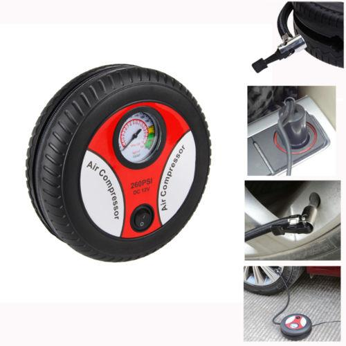 Portable Auto Car Pump Tire Tyre Mini Air Compressor 260 PSI DC 12V