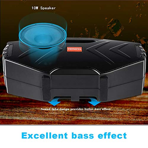~ Portable Bluetooth Speakers with 10W Subwoofer FM Radio Rich Bass Wireless O