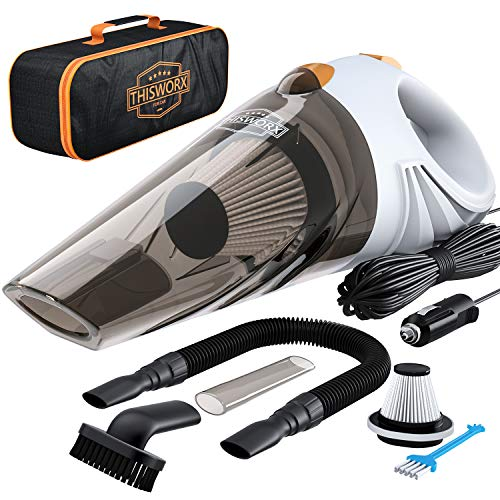 Portable Car Vacuum Cleaner: High Power Corded Handheld Vacuum w/ 16 Foot Cabl