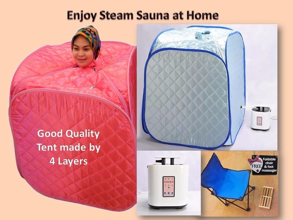 Portable and Foldable Steam Sauna + Free Gift (Rose Pink) 4xLayer Tant
