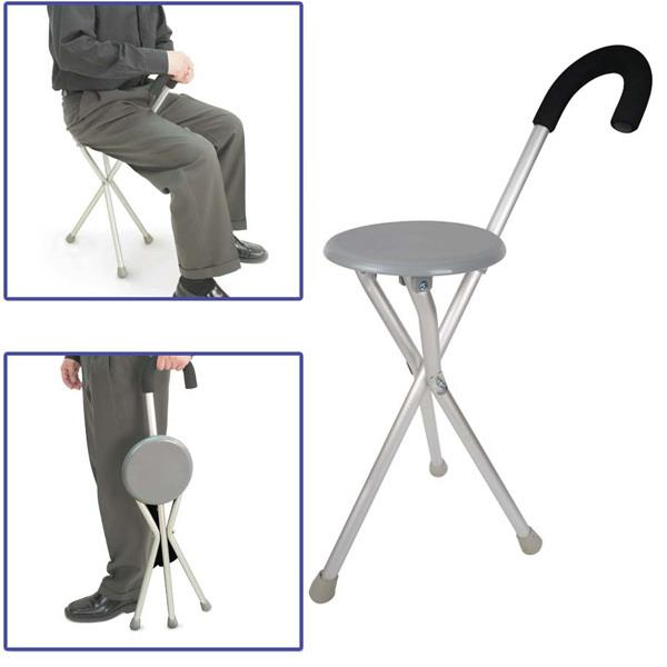 Portable Folding Foldable Crutch Cane Walking Stick Seat Stool Chair  sc 1 st  Lelong.my : walking stool seat - islam-shia.org