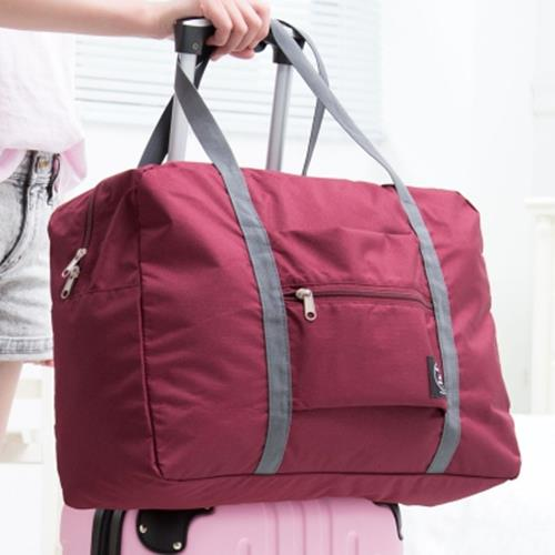 Portable Folding Traveling Bag Wine Red