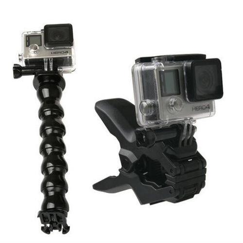 Portable-Jaws-Flex-Clamp-Mount-Adjustable-Neck-Gopro-Hero-3-2 Camera