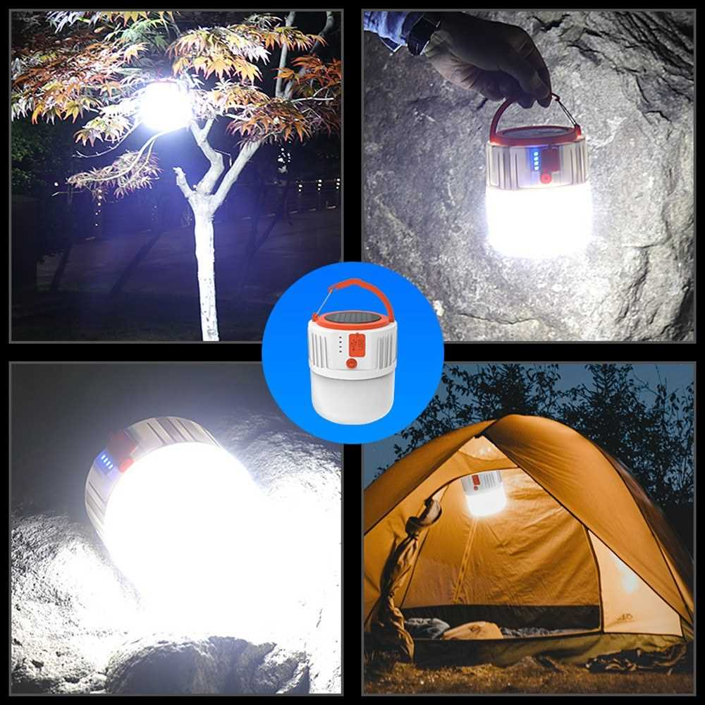 Portable Lantern USB Solar Power Mobile Light with 24pcs Lamp Beads