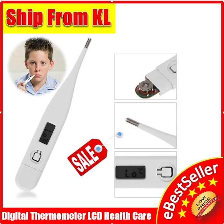 Portable LCD Digital Thermometer Baby Child Adult Body Temperatur
