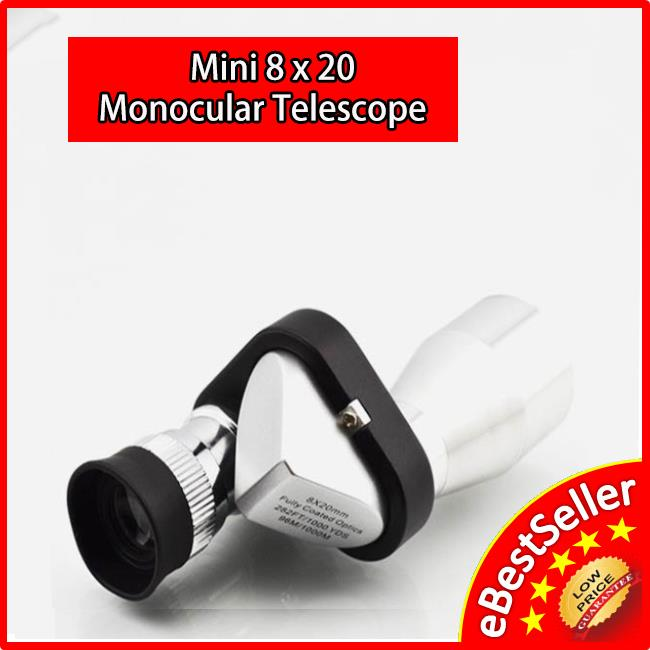 Portable Mini 8 X 20 Monocular Binoculars Telescope Pocket Size