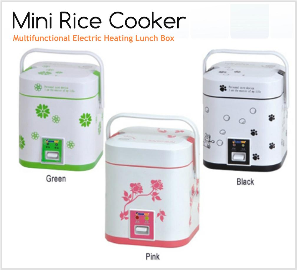 Portable Mini Rice Cooker Multifunctional Electric Heating Lunch Box. ‹ ›