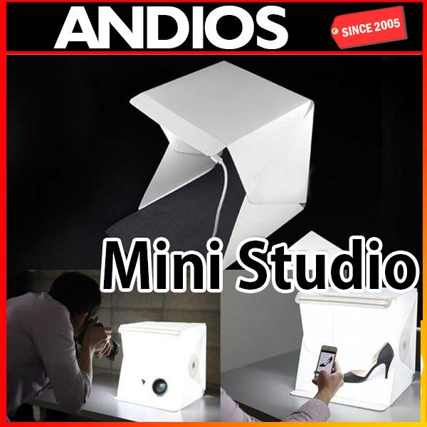 Portable Mini Studio Light Box Photography Backdrop LED kotak gambar