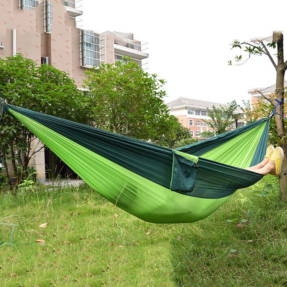 portable parachute nylon fabric hammock  blackish green and apple gree portable parachute nylon fabric hamm  end 6 19 2020 7 38 pm   rh   lelong   my
