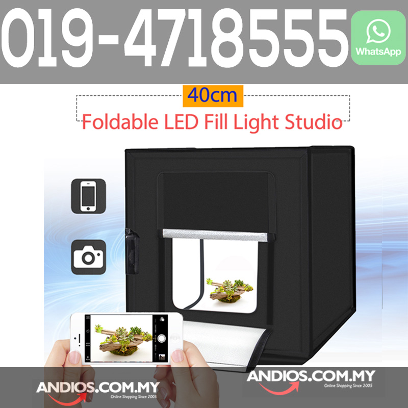 Portable Pro Mini Studio 40cm Polyester LED Light Photo Shooting Tent