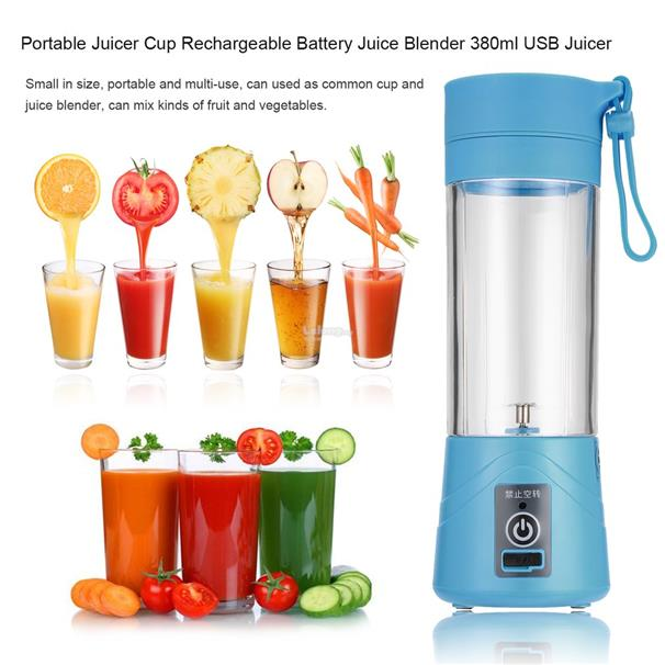 Portable Rechargeable Battery Juice 380ml Volume Healthy USB Juicer