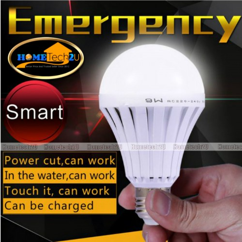 Portable Rechargeable LED Bulb Emergency Camping Light (With On/Off Hook)
