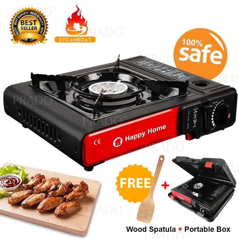 Portable Steamboat Gas Stove Cooking Burner Hob Free Wood Spatula