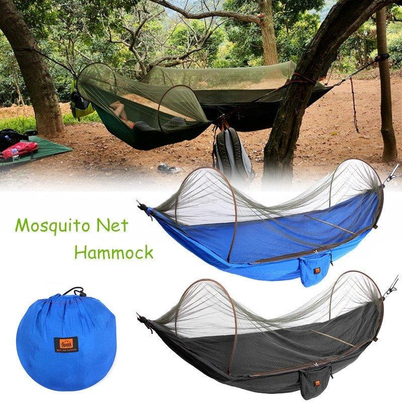 portable strength camping hammock hanging bed with mosquito   blue portable strength camping hammock  end 12 15 2018 10 15 pm   rh   lelong   my