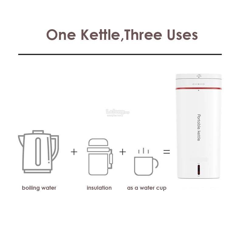 NEW Portable SUS 304 Electric Kettle Travel Water Boiler Vacuum Flask