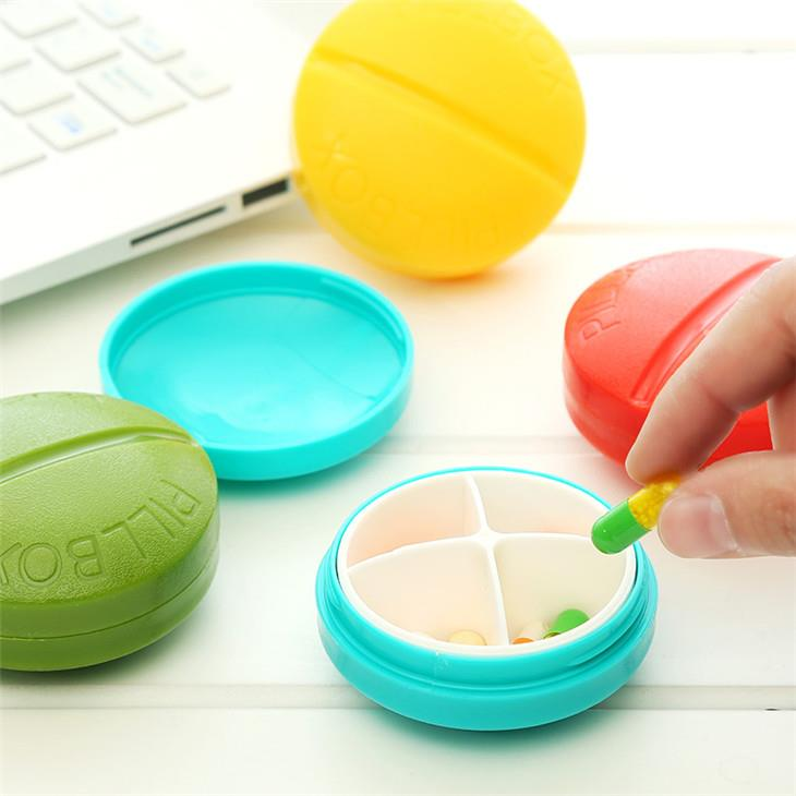 Portable Travel 4 Grids Pill Case
