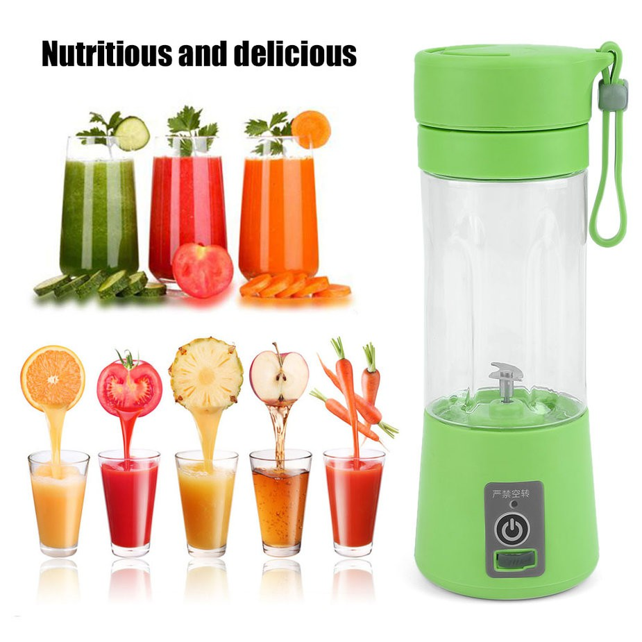 Portable USB Rechargeable Battery Juice Blender Juice Shaker - Green
