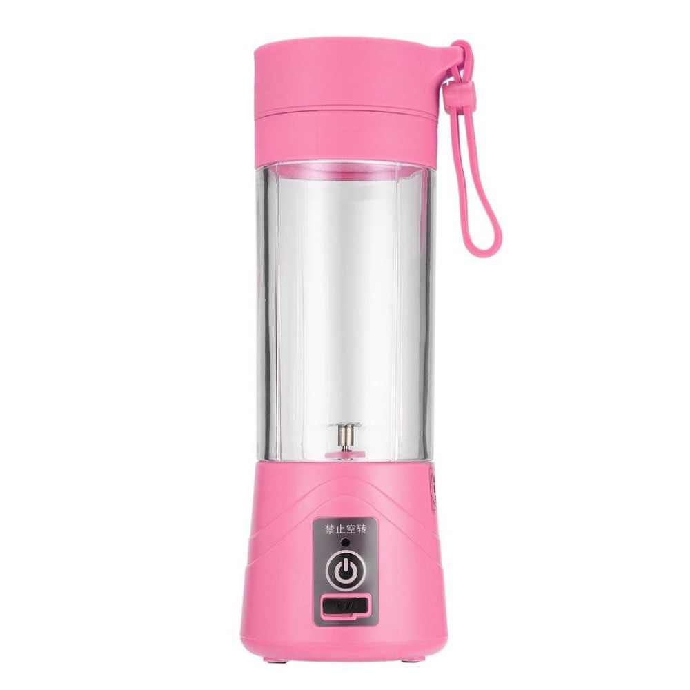 Portable USB Rechargeable Battery Juice Blender Juice Shaker - Pink
