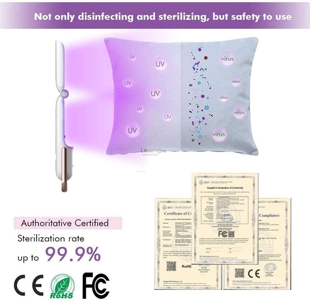 Portable UV LED Light Disinfection Wand Foldable UVC SterilizerTravel