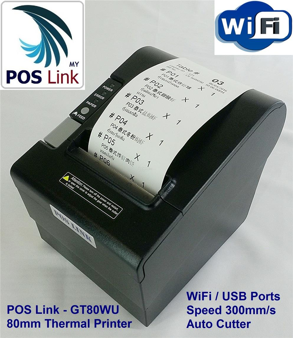 POS System -  80mm Wifi / USB Thermal Printer,Auto Cutter