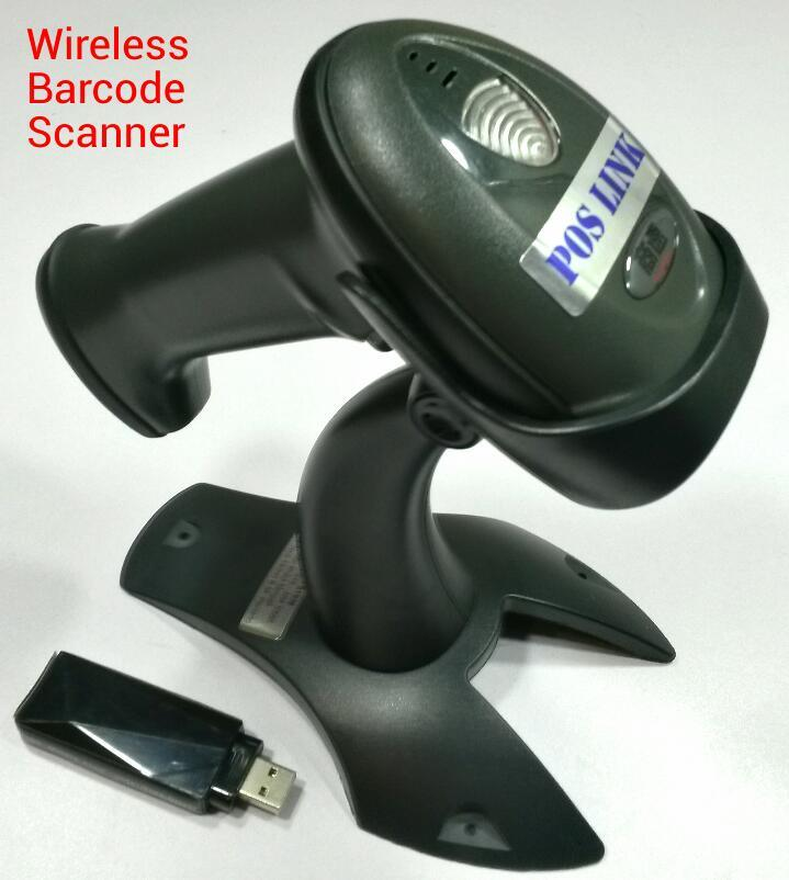 POS System - Wireless Auto Barcode Scanner with Stand