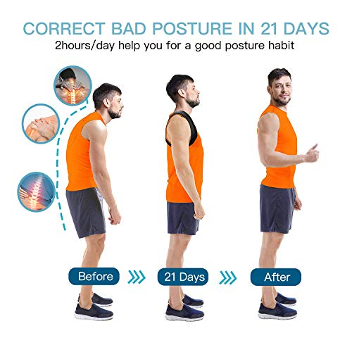 Posture Corrector for Women and Men-Easy to Wear Posture Brace Arua Back Strai