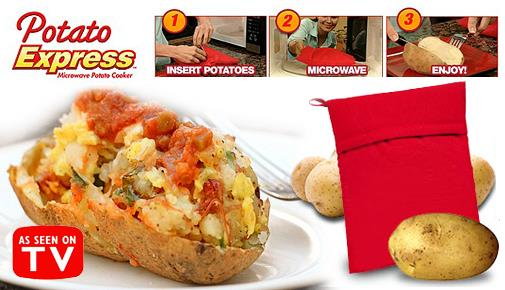 *Potato Express Microwave ^Bag Cooker Cook Just in 4 minutes