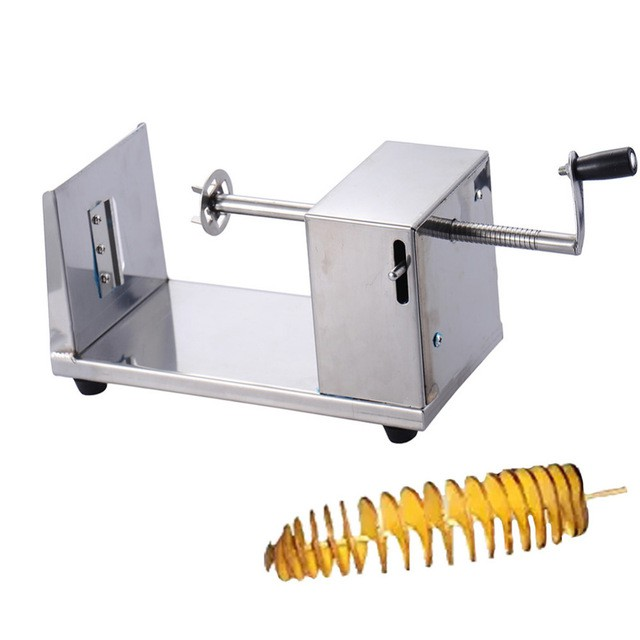 Potato Slicer Machine Spiral Potato Pemotong Kentang French Fries Snack  Maker