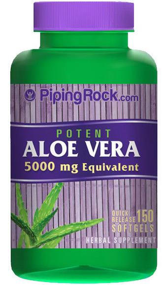 Potent Aloe Vera 150 softgels 5000mg Equivalent (Made In USA)