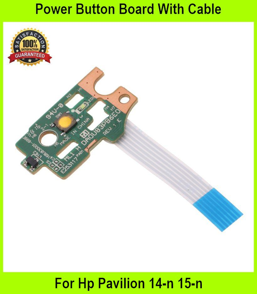 Power Button Board With Cable For Hp Pavilion 14-n 15-n Series Da0u83p