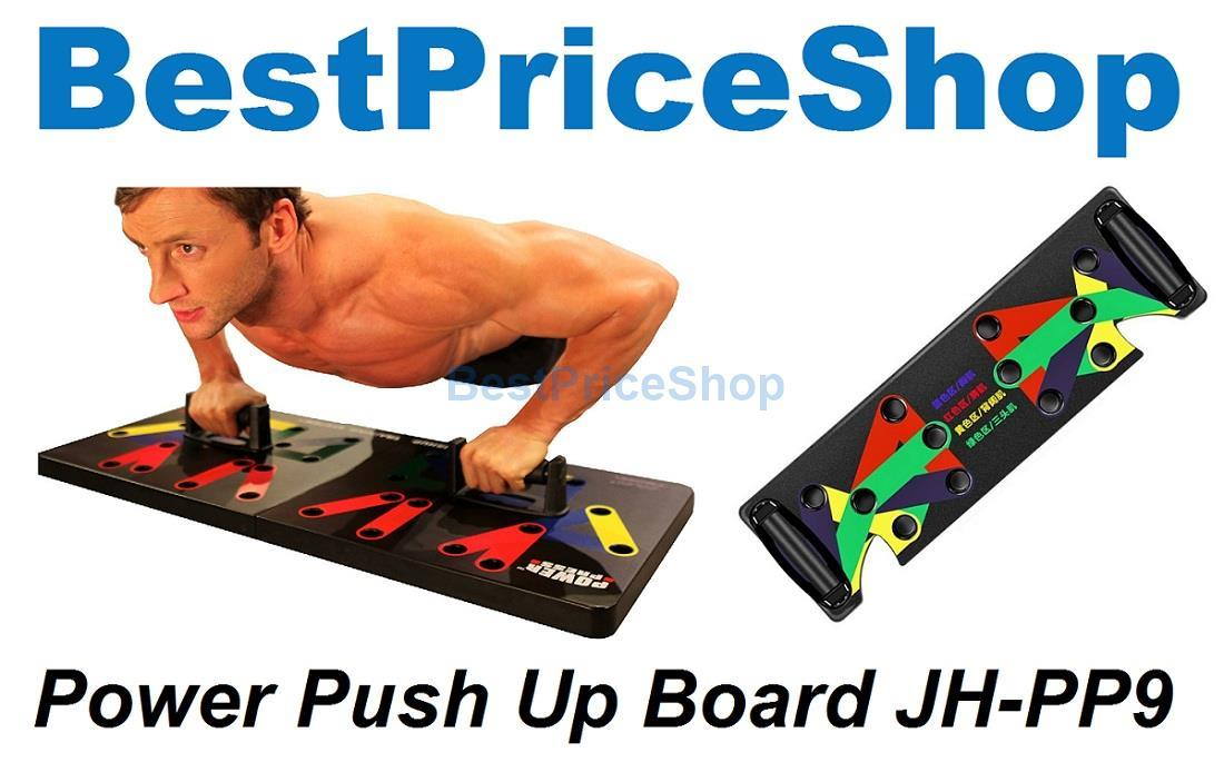 Power Press Push Up Board Gym Fitness Chest Muscle Building Workout