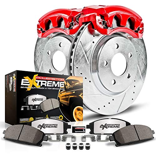 Power Stop KC2405A-36 Brake Kit with Caliper (Rear Truck and Tow)
