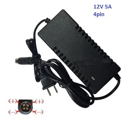 Power Supply 12V 5A Four 4-Pin for DVR CCTV Security Recorder