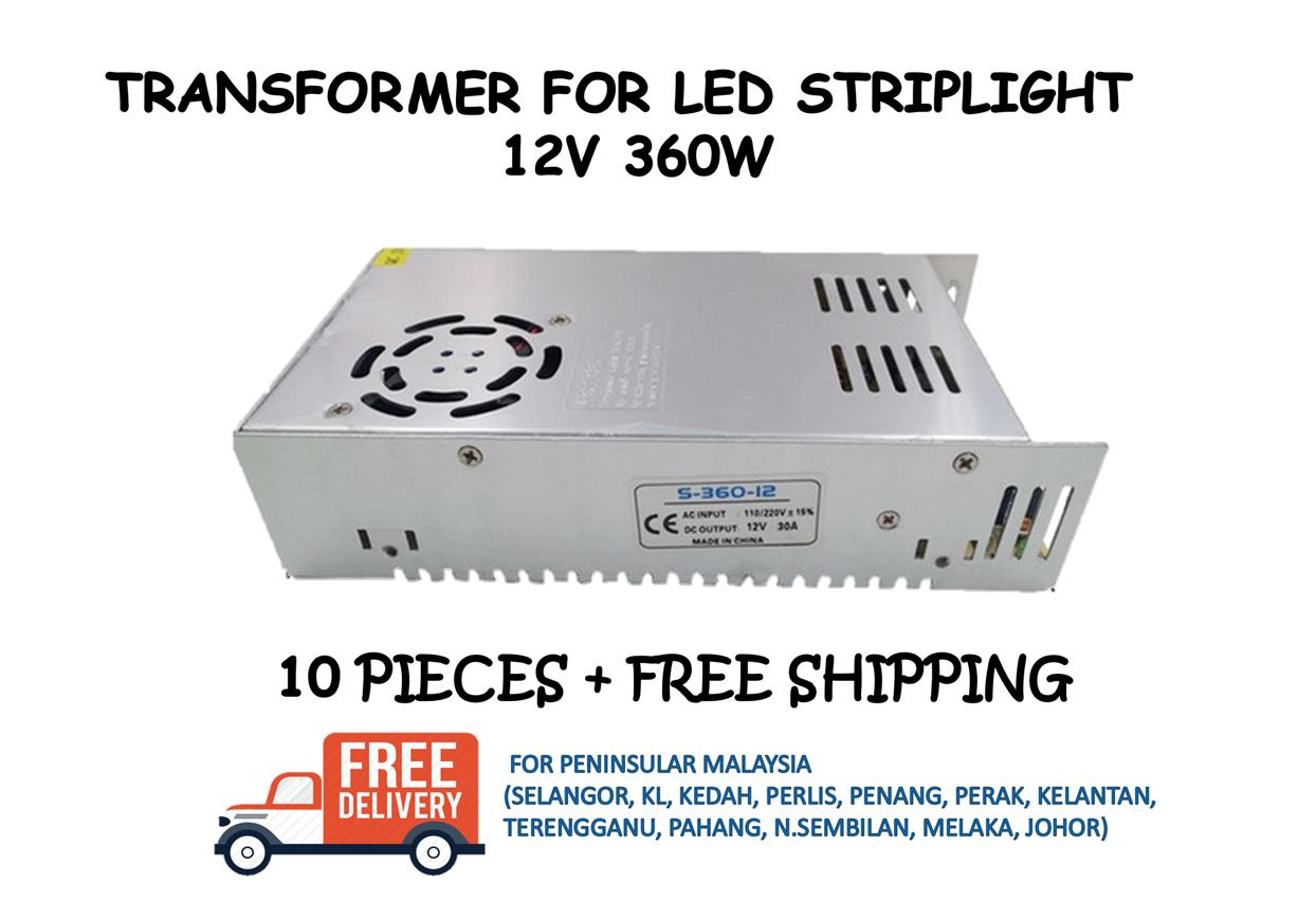 POWER SUPPLY / TRANSFORMER 12V 360W - 10 PIECES + FREE SHIPPING