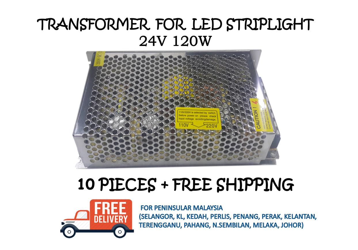 POWER SUPPLY / TRANSFORMER 24V 120W - 10 PIECES + FREE SHIPPING