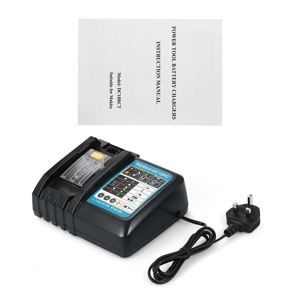 Power Tool Battery Chargers DC18RC T Battery Charger for All Makita 7.2V-18V L