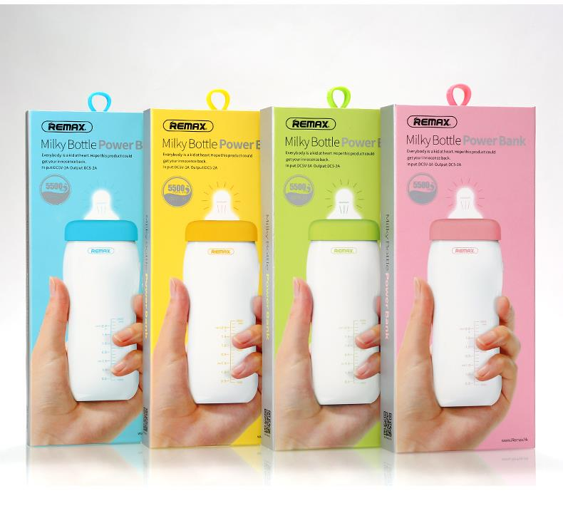 POWERBANK MILKY BOTTLE 5500MAH RPP-29